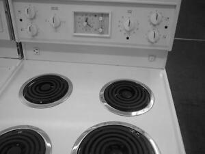 24 INCH WIDE STOVE, WHITE, EXCELLENT SHAPE