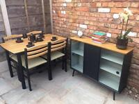 50's inspired dining set. Table 4 chairs/sideboard
