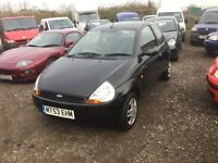53 reg ford ka fully colour coded high spec car drives like new very low mileage only 67000 from new