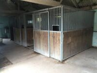 Stables , Internal american style barn style 10' x 10' galvanised heavy duty , dismantled