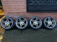 "19"" STAGGERED MERCEDES STYLE ALLOY WHEELS AND TYRES SET OF 4. MAKE AN OFFER"