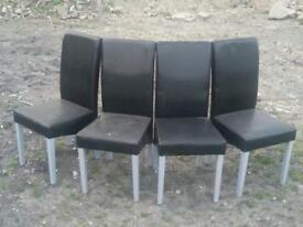 4x chairs black contempary
