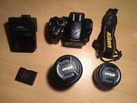 Nikon D3200 Digital SLR Camera with 18-55mm VR Lens & Nikkor AF 50mm Lens
