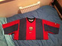 Barcelona Football Home Shirt - 1998-1999 Size L
