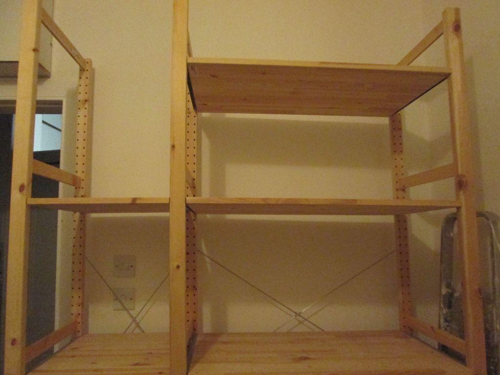 ikea hejne storage shelves in london road edinburgh gumtree. Black Bedroom Furniture Sets. Home Design Ideas