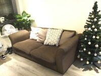 Sofa with duck fur cushions ( very warm )