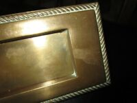 Brass door knocker and letter box