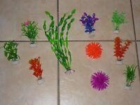 10 ASSORTED NEW FISH TANK / AQUARIUM PLANTS AND CORAL DECORATIONS £5