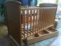 Mamas and Papas cot in oak