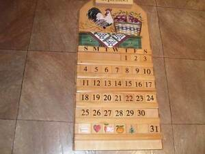 USED PINE ALL YEAR WALL CALENDER EXCELLENT CONDITION - CALLS ONLY Cranebrook Penrith Area Preview