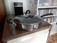 Procook Gourmet Steel Induction Pan & Lid 28cm/3.7L