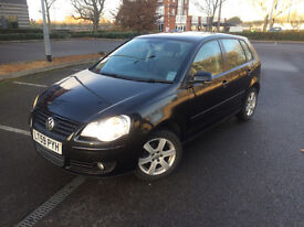2009 (59) VOLKSWAGEN POLO 1.2 MATCH 60 BLACK 5DR GOOD CONDITION