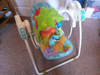 Fisher Price rainforest space saver swing (could deliver)