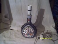 1950s / 1960s BLING ? ? A MOSAIC TABLE LAMP , MULTi-COLOURED FOR ONLY £ 25 . +++++