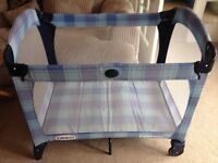 Graco blue/purple travel cot in spotless condition