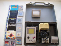 Original Gameboy with case, games and extras