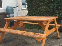 Pub style bench