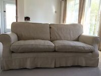 Very Stylish and Pretty sofa (Laura Ashley) palest gold removable covers house move requires sale