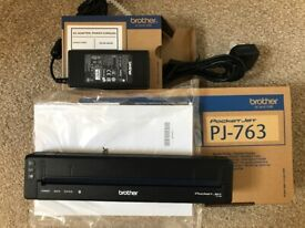 Brother PJ-763 Thermal printer plus AC Adapter