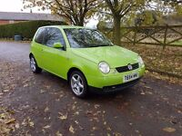 Volkswagen Lupo S 1.4 3dr green briliant condition Low insurance low cost tax road