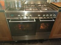 Free standing gas hob double electric oven, all still working.