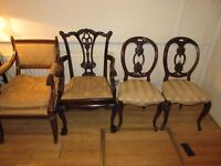 Antiques furniture for sale pick up from Harley Street Central London chairs desks chest of draws