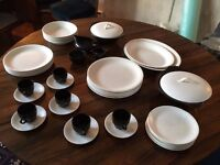 Fabulous Vintage dinner and coffee set. Colour cream -- British Anchor