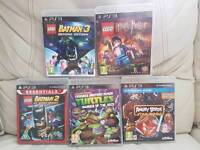5 ps3 games Lego Batman 2 & 3 , Lego Harry Potter years 5-7, Angry Birds Star Wars & turtles