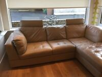 Natuzzi corner suite immaculate condition buff colour the model is Luca bought from sterling