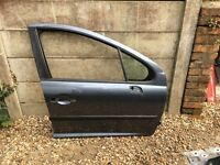 PEUGEOT 207 FRONT RIGHT DRIVER SIDE DOOR
