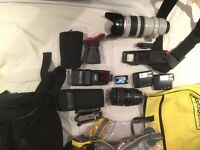 Complete Canon 5D2 based underwater/expedition professional photography kit
