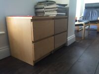 Two ikea bedside tables - very good condition