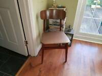 Vintage Retro Dining Chair Bedside Table Dressing Table Chair Hall Chair