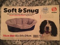 New and unused dog bed