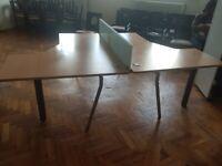 L shape Office Pod/Desk/Table Wood finish £85 each desk in pod