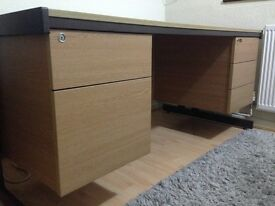 Office desk / Study desk with attached Pedestals