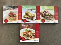Bodytim weight loss healthy recipe books 4 cook book set Italian French Thai Greek