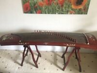 Rosewood instrument zither for sell including instrument rack and music stand