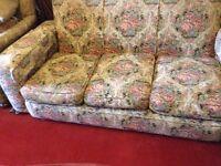 Beautiful Elizabethan/ Victorian style sofa suite