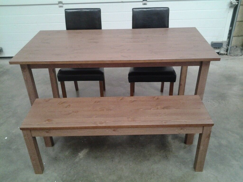 Dining Table Bench And 2 Chairs Can Deliver