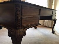 Beautiful antique style vintage desk with Chesterfield captain's chair