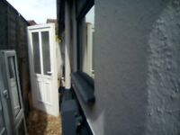 White UPVC Front Door.