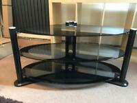 40.5 Inch Three Tier Glass Tv Stand