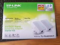 TP Link AV500 Nano Powerline Adapter Starter Kit