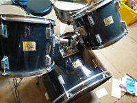 Black Stagg Beginner's Drum Kit with Zildjian Hi Hats (Reduced Price & taking offers)