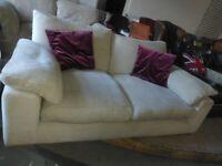 Cream Fabric quality Sofa Settee Deliv Poss