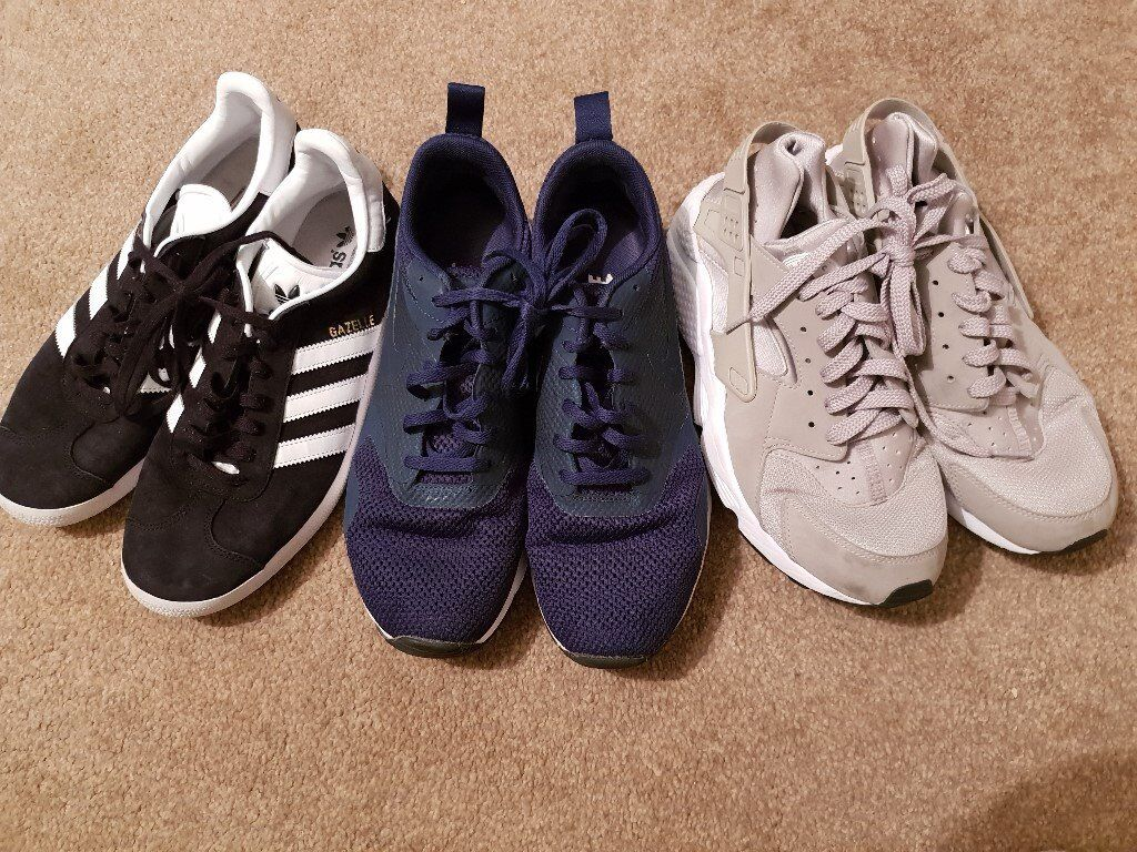 best cheap fdc61 fcee2 ADIDAS gazelle, NIKE mens training shoes size 9 and 8