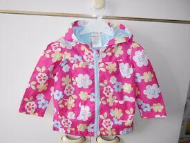 Girls jacket (flowers) size 12-18 months