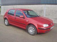 VW Golf 1.9 TDI 5 Door 2002 Craigie South Ayrshire