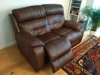 Furniture Village 'Moreno' leather double power- recliner. Perfect condition